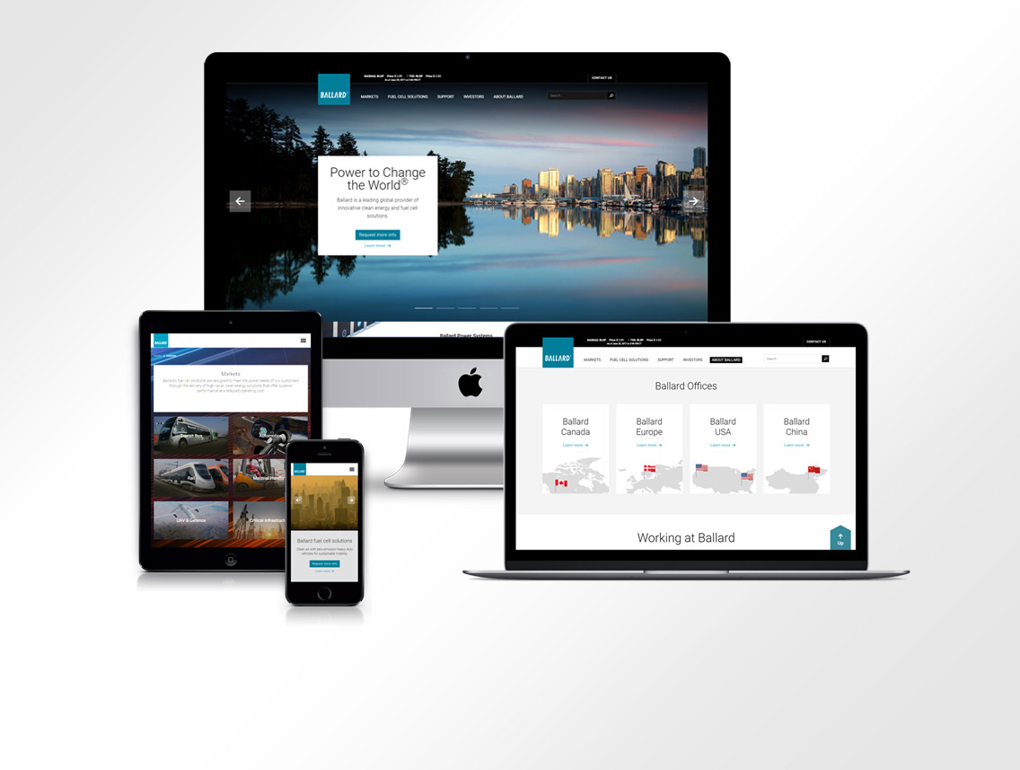 Ballard Power Website Design