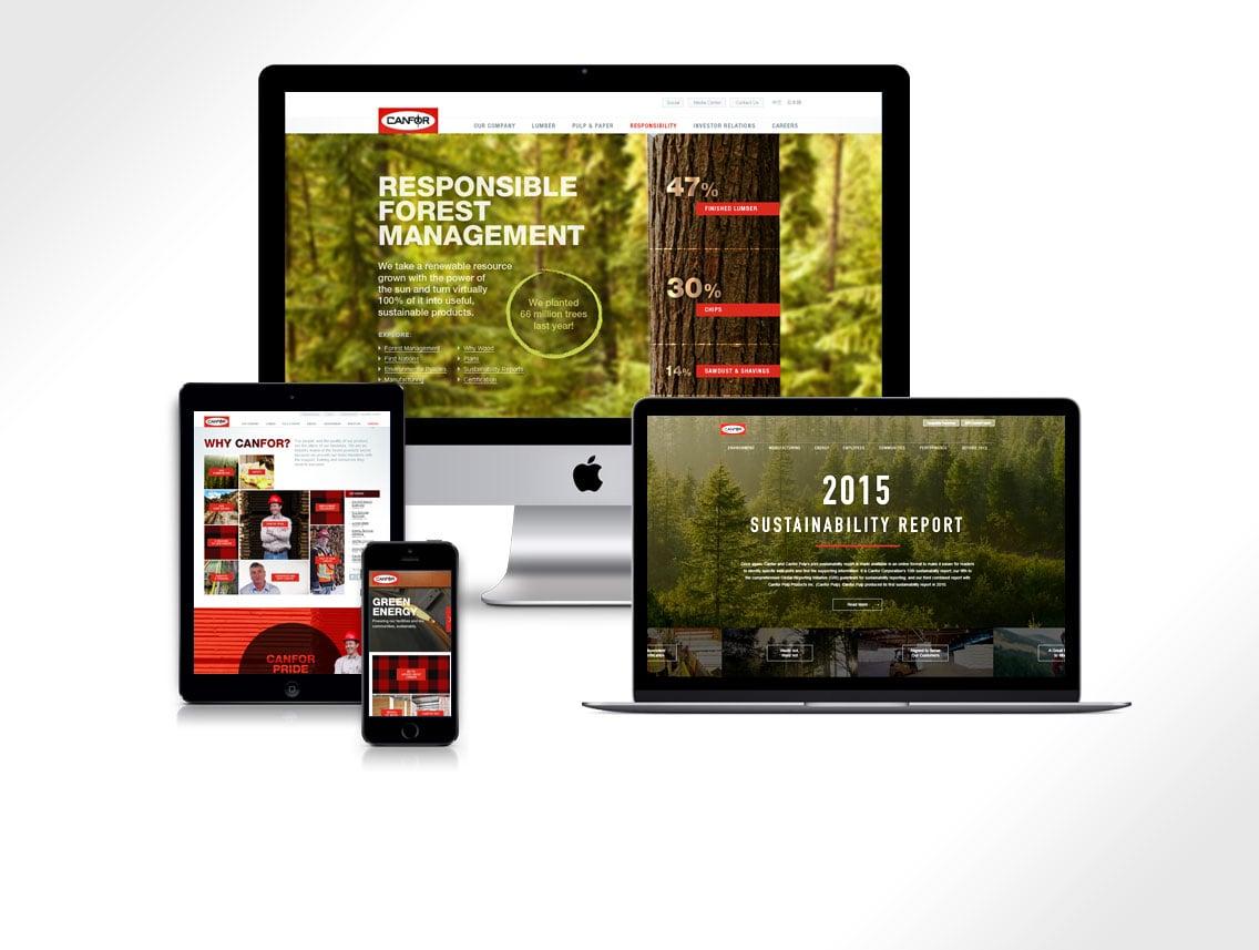 Canfor Website Design