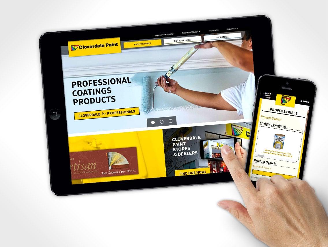 Cloverdale Paint Website Design