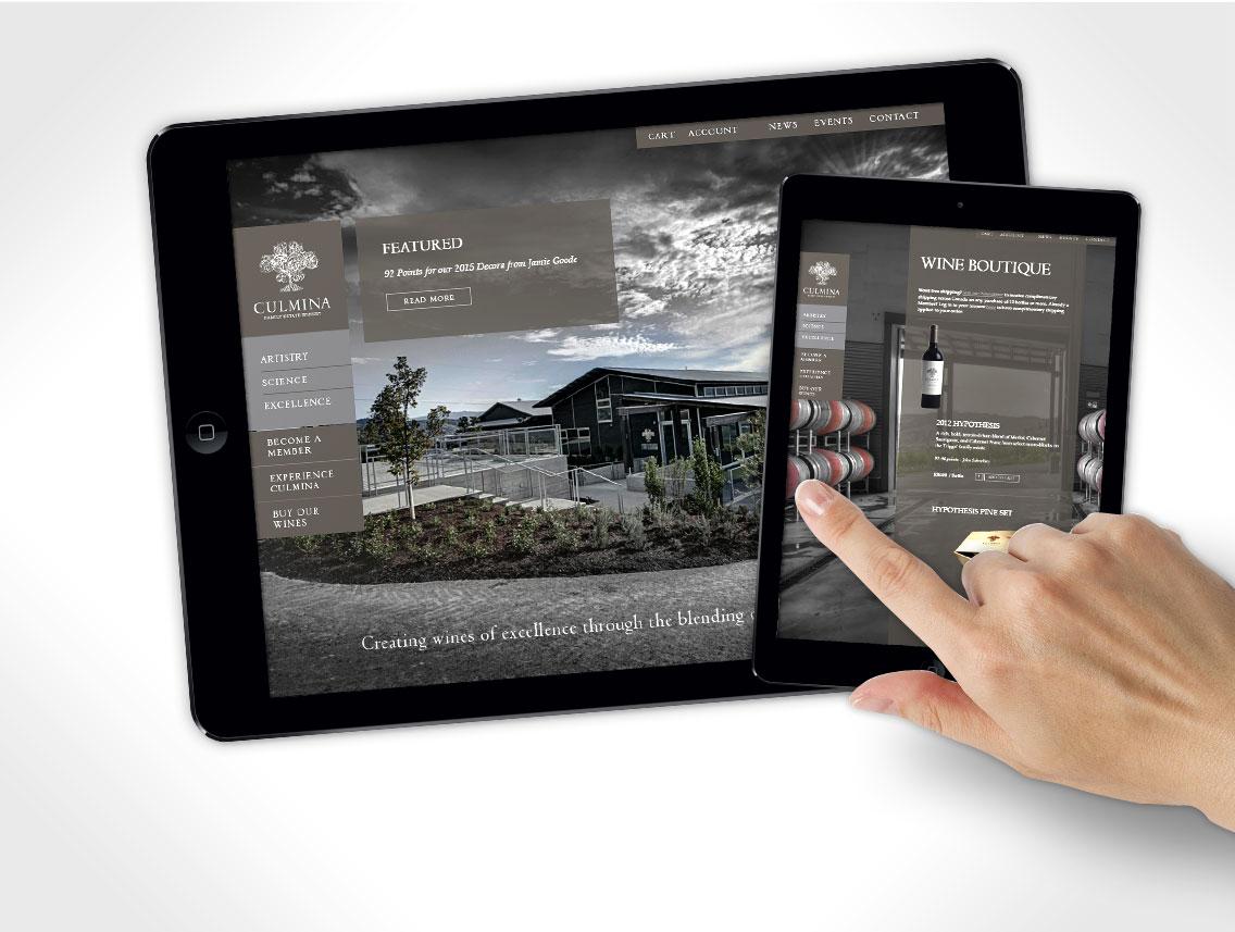 Culimia Winery Website Design