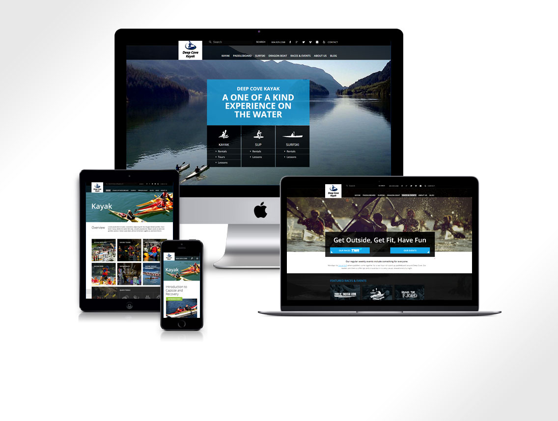 Deepcove Website Design