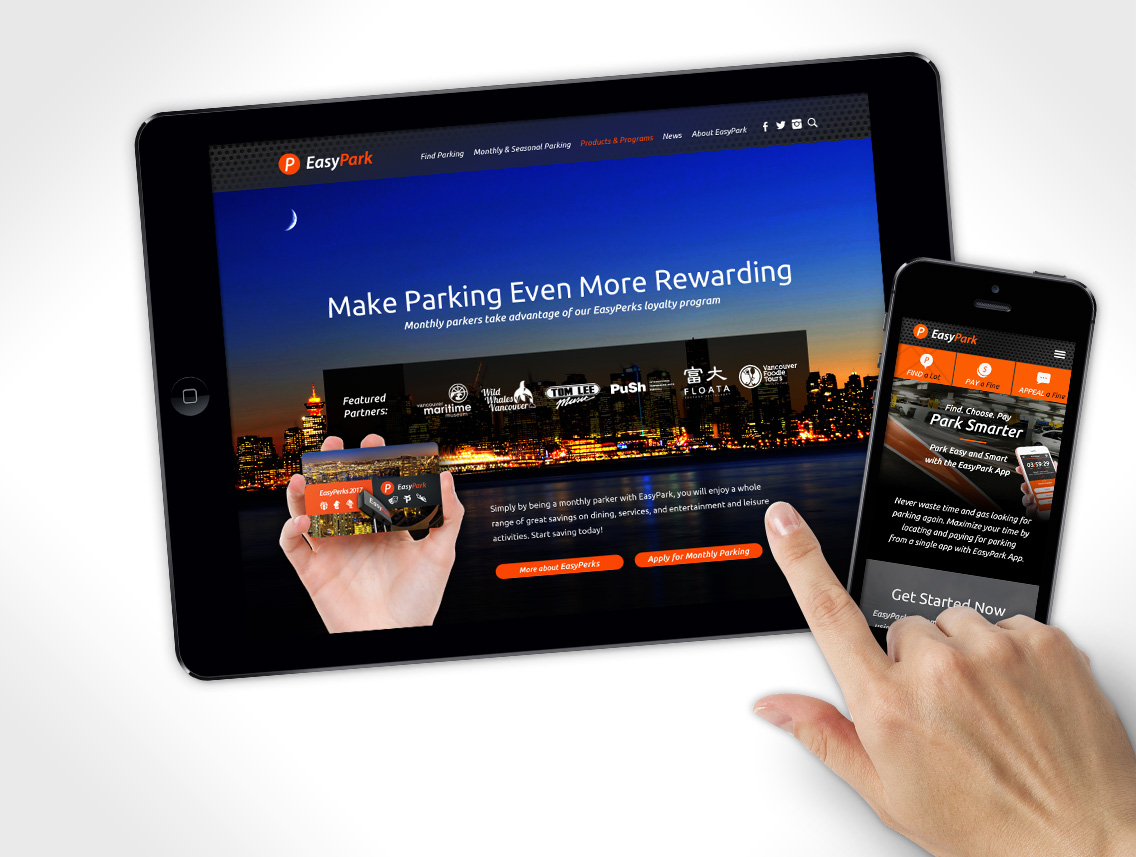 EasyPark Website Design
