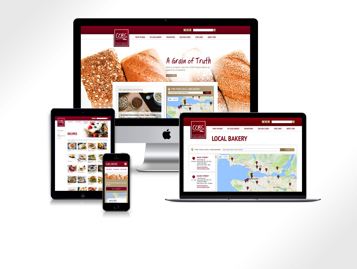 COBS Bread Website Design